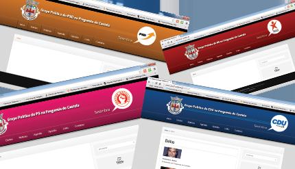 Novos sites dos Grupos Políticos da Freguesia