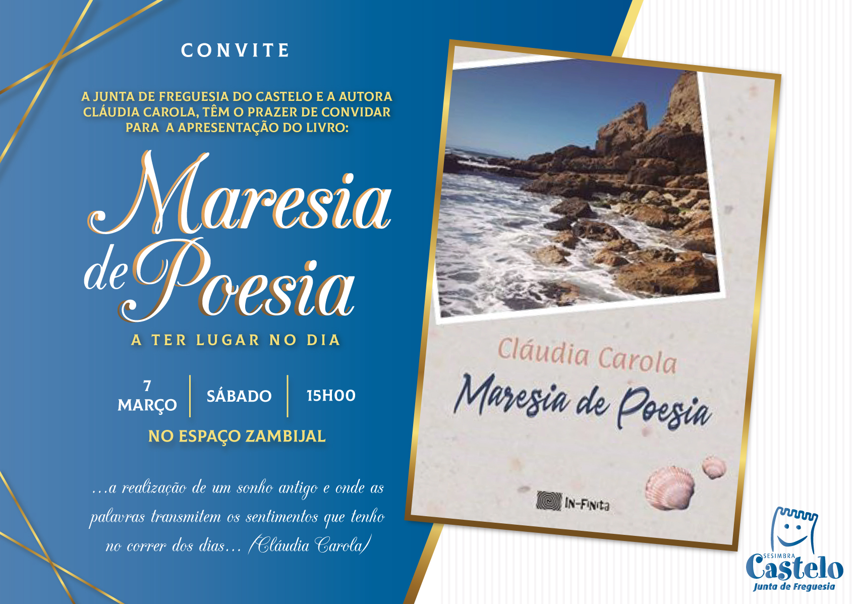 MARESIA DE POESIA de Cláudia Carola | APRESENTAÇÂO