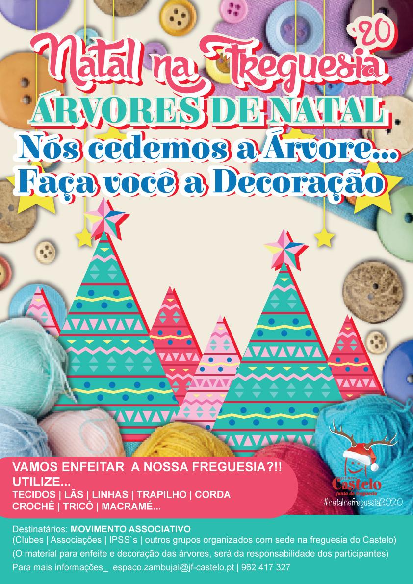 Iniciativa _  Árvores de Madeira_ Natal`20 | Nós Cedemos a ´Árvore... Falta a Decoração!