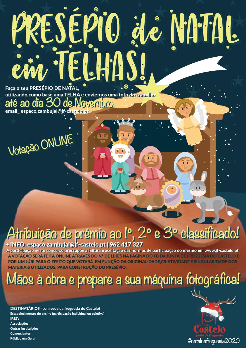 CONCURSO _PRESÉPIOS de NATAL em TELHA_ Natal`20!