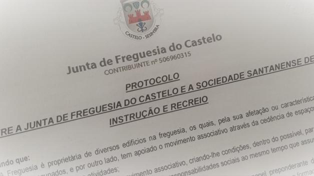 Junta de Freguesia celebra Protocolo de Cedência de Espaço, com a Sociedade Santanense de Instrução e Recreio (SSIR)