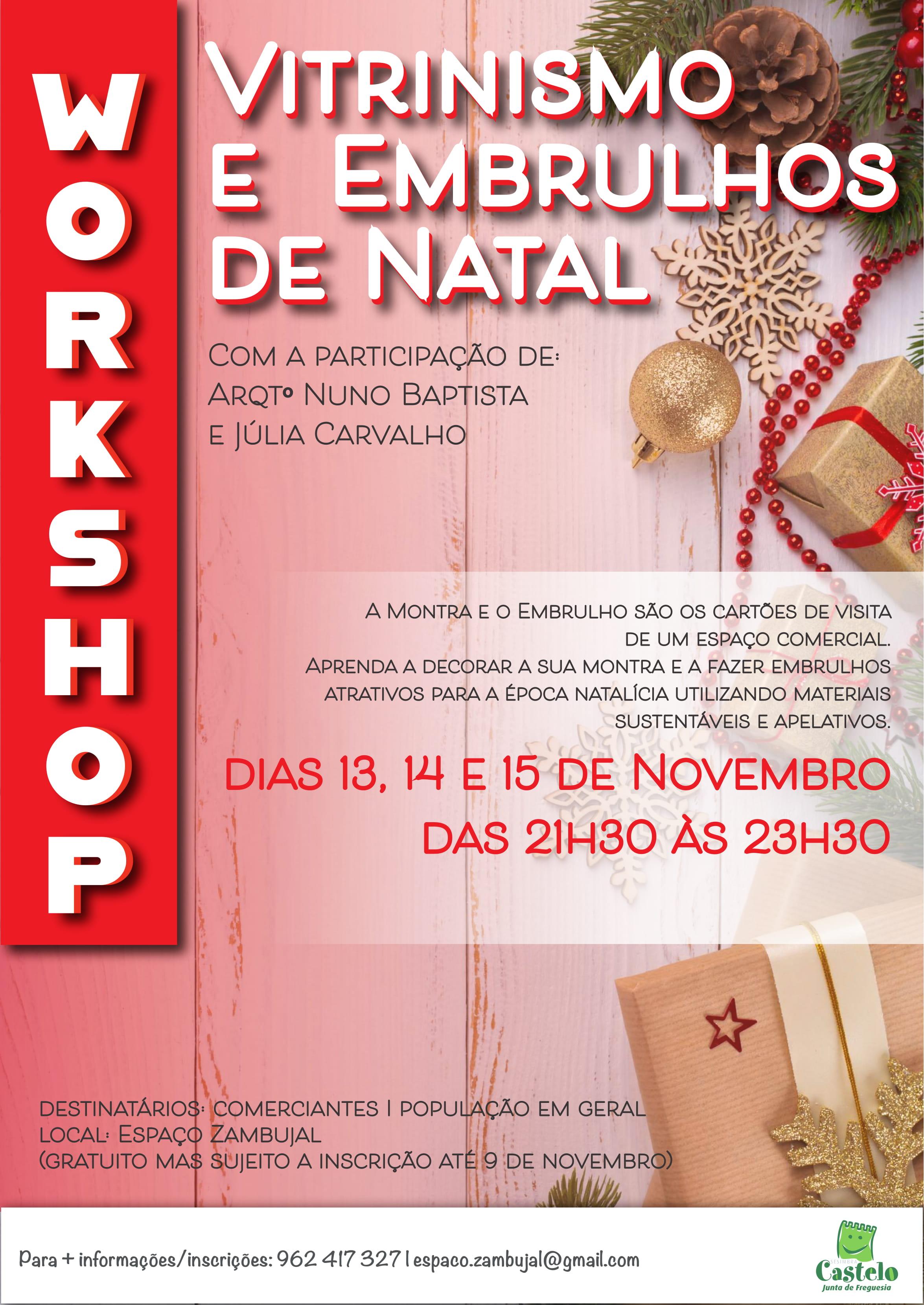 Workshop | Vitrinismo e Embrulhos de Natal