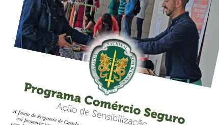 """Ação de Sensibilização """"COMÉRCIO SEGURO"""""""