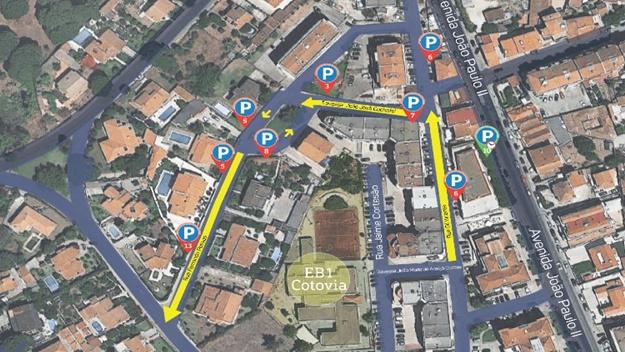 Estacionamento na zona da Cotovia reforçado_ PAMUS