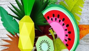 Oficina de Expressão Plástica | Frutas em 3D