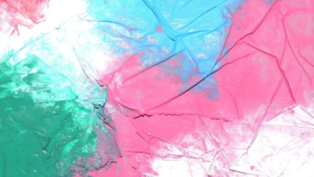 Oficina de Expressão Plástica | Pintura em Celofane * O Verão